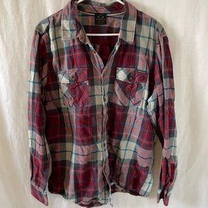 Oakley Button Up Shirt Plaid men's Size XL